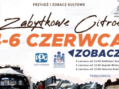 Zabytkowe Citroëny przyjadą do Koszalina i Mielna