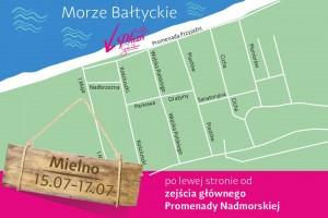 Plaża Semilac lipiec 2016 Mielno